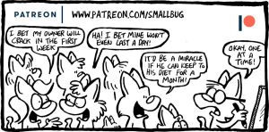 Patreon update: Resolution, Monster mixup by bakertoons