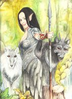 Amaryllis Keeper of The Hounds by morgansartworld
