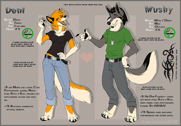 Deni and Mushy Dual Reference Sheet (2012) by Synthucard