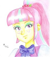 Sour Sweet colored pencil portrait by mayorlight