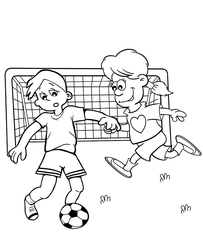 Football coloring page by Topcoloringpages