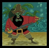 Zombie Pirate LeChuck by The-Mirrorball-Man