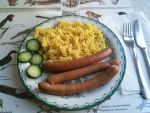 Sausage and fusilli by EgonEagle