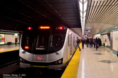 TTC Toronto Rocket at Bloor Station by tobiasgong