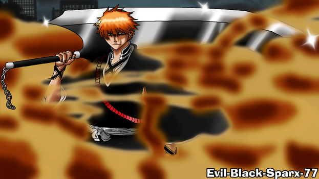 Ichigo Kurosaki Substitute Shinigami (Returned) by Evil-Black-Sparx-77