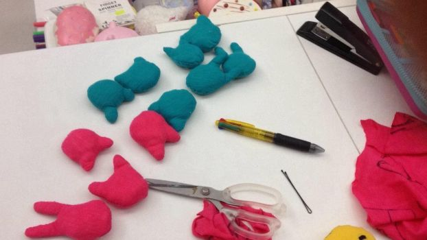 The to me making plushies all day long XD  by iluvllamas05