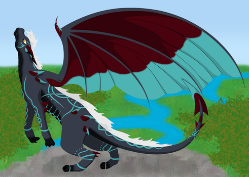 Arttrade. the wolf in a dragons body by FableworldNA