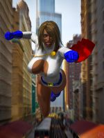 POWERGIRL COMIN AT'CHA by lordcoyote