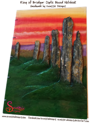 Handmade Ring of Brodgar Orkney Journal - Front by snazzie-designz