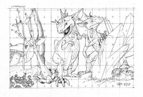 Lizardoid Pencils by JeffDee