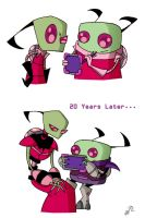 Zim and Skoodge-20 Years Later by Piddies0709