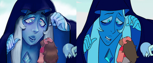 Blue Diamond and Greg - Screenshot redraw by Xana-boi