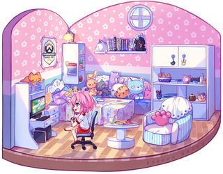 [+Video] Commission - Gaming Room by Hyanna-Natsu