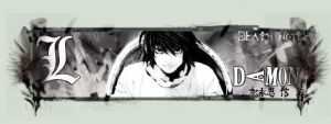 L - Death note signature by Dam0nESP