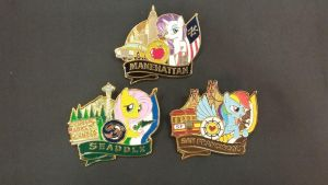 The Pony City Series Pins by SouthParkTaoist
