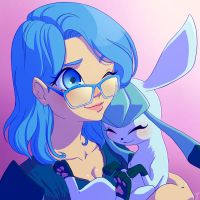 Comm - Juh and her Glaceon by rodrigues-feh
