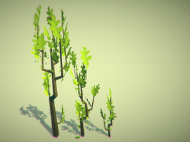Lowpoly Tree (with fancy image effects !) by lithium-sound