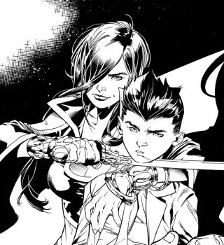 Super Sons Issue 13 page 10 Inks by aethibert