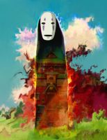 spirited away, no face by Ururuty