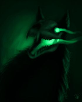 speed drawing - hellhound by nocturnalMoTH