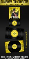 DJ Business Card Template by AnotherBcreation