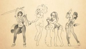 girls power! by StyloideIllustration