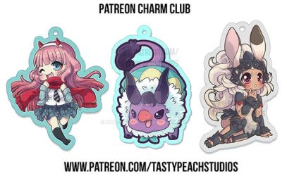 Patreon Charms|Zero Two, Fran, and Baby Behemoth