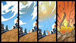 Earthworm Jim, intro comic p3 by joslin