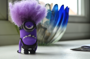 Despicable Me 2 Evil Purple Clay Minion Sculpt by dcX1991