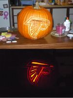 Falcon Pumpkin Carving by rkw0021
