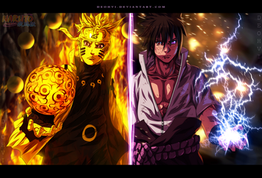Naruto 674 - Kicking time - coloring by DEOHVI