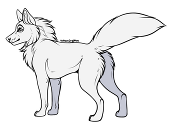 Free To Use - Wolf Base (+TRANSPARENT LINEART) by AethonGryphon