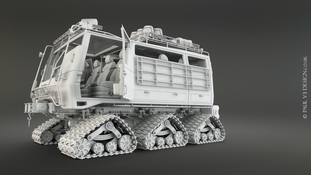 Sno-Fox Cat Full Exterior - WIP by PaulV3Design