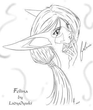 Felina Final - black and white by LadyOyuki