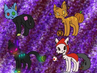 Halloween Adopts by blazinq