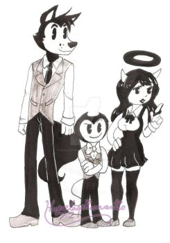 Boris, Bendy and Alice by hopelessromantic721