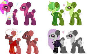 Panda Pony Adopts (CLOSED) 0/4 by Arianstar