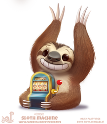 Daily Paint 2052# Sloth Machine by Cryptid-Creations