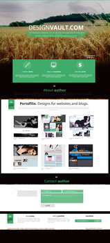 Graphic website | designvault. by lenkamason