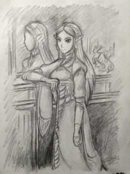 Princess to a Throne of Nothing, Sketch by DNLINK