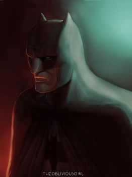 Batman Portrait by TheObliviousOwl