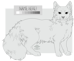 ( pay to use ) Maine Coon Cat Lineart! by gloomyguts