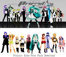 Project Echo Pose Pack MMD Download by Reon046