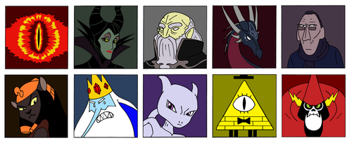 My top 10 favourite villains by Azdaracylius