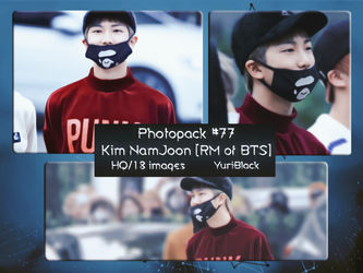 Photopack #77 - Kim NamJoon [Rap Monster of BTS] by YuriBlack