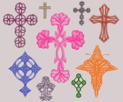 9 Cross brushes by Kribabe-stock