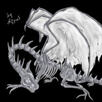 Ghost dragon by firael666