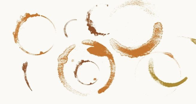 coffee stain brush for PS CS2 by Hindhede