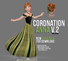 [MMD] Coronation Anna V.2 - AVAILABLE by wintrydrop