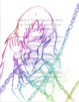 SKETCH - Faye in Chains by TrainerKelly